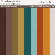 Jelise Solids Paper Pack- Maplebrook Studios Papers- PP502726- DesignerDigitals