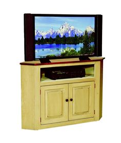 Corner Tv Television Console Cabinet Amish Handmade Maple Furniture Stand