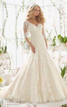 L115 Long Sleeve Wedding Dresses, Plus Size Wedding Dresses, Elegant Mermaid Wedding Dresses