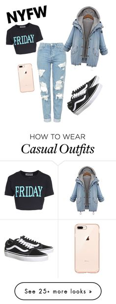"""Casual"" by chrikar on Polyvore featuring Alberta Ferretti, Vans, contestentry and nyfwstreetstyle"