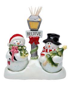 Love this Snowman Toothpick Holder Salt & Pepper Shaker Set on #zulily! #zulilyfinds