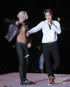 Taemin and Kai~ Oh my- Taemin~ So sexy~