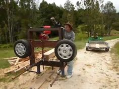 Homemade Band Sawmill 2 - YouTube
