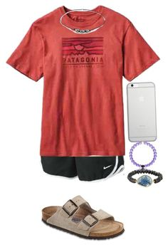 """""""Lake:)"""" by sjkish on Polyvore featuring NIKE, Patagonia, Birkenstock, Native Union and Tai"""