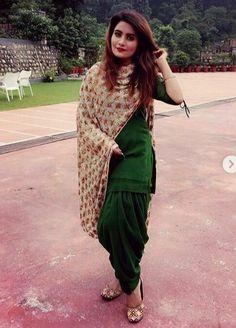 Slight colour variation may be there due to digital view. Patiala Dress, Patiala Salwar Suits, Punjabi Dress, Indian Salwar Kameez, Punjabi Girls, Churidar, Phulkari Suit, Lehenga Suit, Anarkali Dress