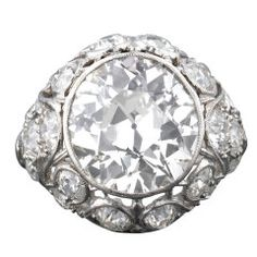 Old European Cut Diamond 6.83carats Ring