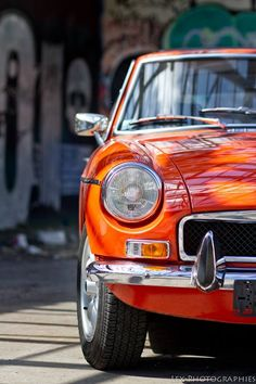 MGB GT. I love orange MGs