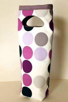 Insulated Wine Bottle Gift bag  Padded Wine carrier by AnneliseDay, $30.00