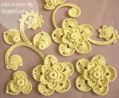 El Crochet Irlandés (Irish Crochet) tiene una gran belleza artística, con mucha elaboración, y fantá...