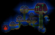 DeviantArt: More Like Terraria Floating Sphere House by shinypuni Minecraft Building Designs, Terraria Memes, Terraria House Ideas, Minecraft Creations, Cartography, Cool Items, Thing 1, Minecraft Underwater House, Kids Playing