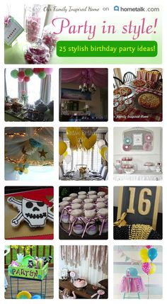 Plan that party to a tee! Here are great party ideas!