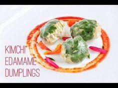 Vegetarian Kimchi dumplings Someone needs to make these for me haha YUM