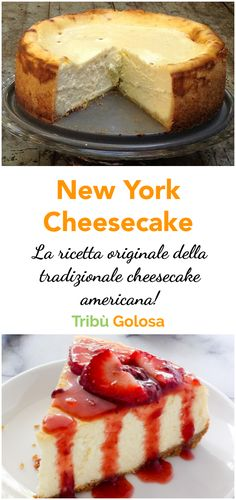 Cheesecake New York Recipe, Cheesecake Americana, Food Cakes, Cupcake Cakes, Ricotta, Newyork Cheesecake, Cake Recipes, Dessert Recipes, Delicious Desserts