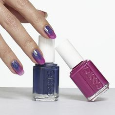 ombré orchid by essie - nail the ombré trend by expertly fading from violet to magenta to pastel purple.