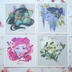 My Floral Sprites are now up at the shop! Limited set deal is happening now too…
