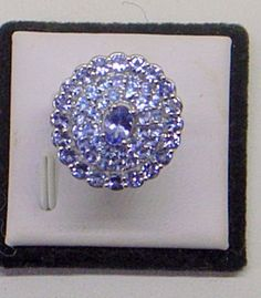 Sale Tanzanite Ring  Size 6.5  Sterling Silver  3 by JanEleven
