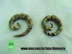 Falso Alargador em cerâmica plástica   www.airu.com.br/loja/dixiearte