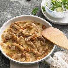 Geschnetzeltes – Pork in Creamy Mushroom Sauce – German Culture Pork Mushroom, Creamy Mushroom Sauce, Creamy Mushrooms, Stuffed Mushrooms, Stuffed Peppers, Creamy Sauce, Pork Recipes, Cooking Recipes, Healthy Recipes