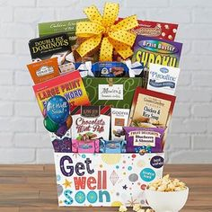 Get Well Gift Baskets - Get Well Soon Basket Get Well Soon Basket, Get Well Gift Baskets, Get Well Soon Gifts, Feeling Under The Weather, Bring It On, Wellness, Get Well Gifts