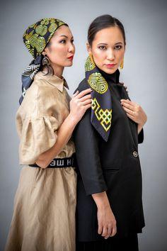 Silk scarf  Fashion  💄Stylist & make-up: @gulbakhyt_barinova 📸Photographer: Mārīte Kārkliņa