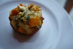 butternut squash & feta savoury muffins