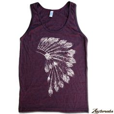Zen Threads Custom Screen Printed in Eco Friendly ink. Hand Pressed in California. A Vintage Soft Tri-Blend Unisex American Apparel Tank Available Sizes: XS S M L or XL (please see size chart for fit