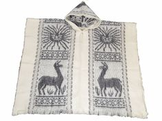 Hand made wool Inca sun poncho white by WigwamShop on Etsy Sun, Wool, Trending Outfits, Unique Jewelry, Handmade Gifts, Etsy, Vintage, Kid Craft Gifts, Craft Gifts