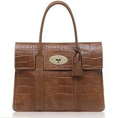 New Mulberry Icon Bayswater Handbag Printed In Oak b3917931fb30e