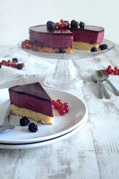 Bavarois à la mûre et à la rose - Rose water and blackberry bavarian cake - My Sweet Faery