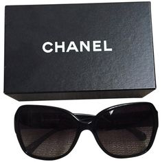 Pre-owned Chanel Sunglasses (365 AUD) ❤ liked on Polyvore featuring accessories, eyewear, sunglasses, chanel, chanel glasses, chanel eyewear and chanel sunglasses
