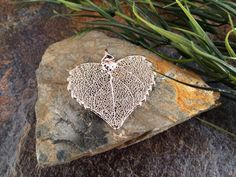 Maple Leaf Pendant Silver Dipped Maple Leaf by MillpondJewelryCo, $8.49