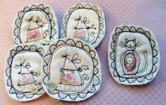 textile brooches | Flickr - Photo Sharing!