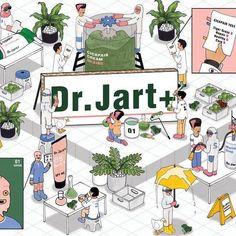 Sephora x Dr.Jart x SUBSUB  #세포라 , #닥터자르트 와 함께한 아트워크  미국 모든 세포라매장에서 봐주세요😀  .  Artwork w/ #Sephora , #DrJart  Watch check it out at Sephora USA😀