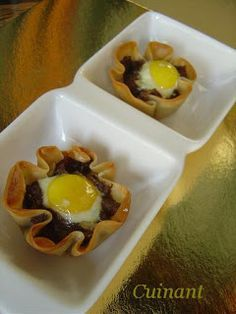 Cuinant: Cestitas de Morcilla Food N, Good Food, Food And Drink, Cooking Time, Cooking Recipes, No Cook Appetizers, Quick Recipes, Finger Foods, Food Dishes