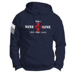 Nine Line Apparel and Gear. Founded by veterans, for veterans and all servicemen. http://www.ninelineapparel.com/team-nine-line-hoodie/