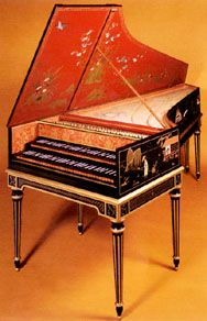 Harpsichord (Italian cembalo; French clavecin), stringed keyboard instrument in which the strings are plucked to produce sound. It was developed in Europe in the 14th or 15th century and was widely used from the 16th to the early 19th century, when it was superseded by the piano. In the 20th century the harpsichord was revived for performance of music of the 16th, 17th, and 18th centuries, as well as for new compositions.