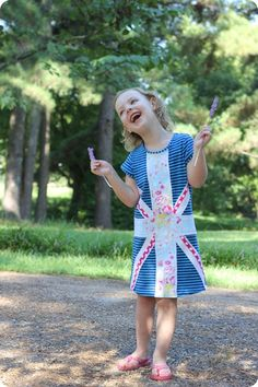 Union Jack version of the Bloom Dress by Sweeter than Cupcakes