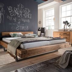 A bed for relaxed nights by the radiance of natural and vol . Bedroom Bed Design, Home Decor Bedroom, Home Fix, Bedroom Layouts, Diy Bed, House Beds, Bed Frame, Furniture Design, Interior Design