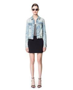 FADED DENIM JACKET - Blazers - Woman - New collection | ZARA Canada