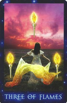 Three of Wands (Flames) Dreams that turn into reality. See more and the video here==>http://www.freetarotcardreadingsonline.com/tarot-cards-the-three-of-wands/