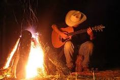 Music & campfire, wonderful peace