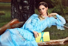 Yellow leather bags complement your feminine outfits gracefully; add a splash of color by wearing delicate pastel accessories that highlight your refined style and natural beauty.