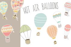 Hot Air Balloons by Angie Makes on Creative Market