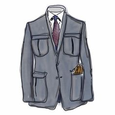 Sketched.  thingsofinterest:    #menswear sketch of the day