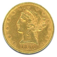 Money Metals offers U.S. Liberty Head  5 Dollar Gold Coins dating between 1839-1908. Buy historic gold coins at just above melt value. Order securely online 24/7! Golden Eagle Coins, Silver Eagle Coins, Bullion Coins, Gold Bullion, Gold Coin Values, Pound Money, Gold Coins For Sale, Copper Prices, Silver Investing