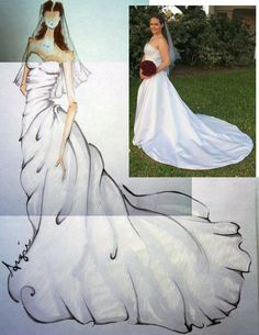 I love my wedding dress and I love fashion sketches so this is awesome!!  {AngieBCoyne on Etsy}