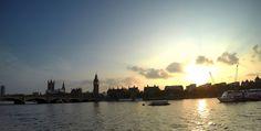 Sunset over the river Thames, London, United Kingdom // full photogallery on www.DR-travelblog.com
