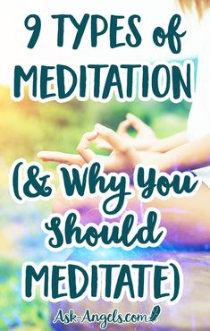 9 Types of Meditation (& Why You Should Meditate) Most people do not realize that there are many ways to meditate, and so they get frustrated, not realizing there are many types of meditation to choose from. Meditation Methods, Meditation For Anxiety, Types Of Meditation, Easy Meditation, Meditation Benefits, Chakra Meditation, Meditation Practices, Mindfulness Meditation, Guided Meditation
