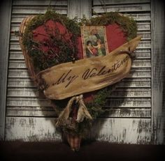 Primitive Valentines Day Door Greeter / by GeorgiaRoadPrims,