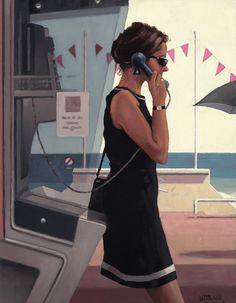 Jack Vettriano Her Secret life oil painting for sale